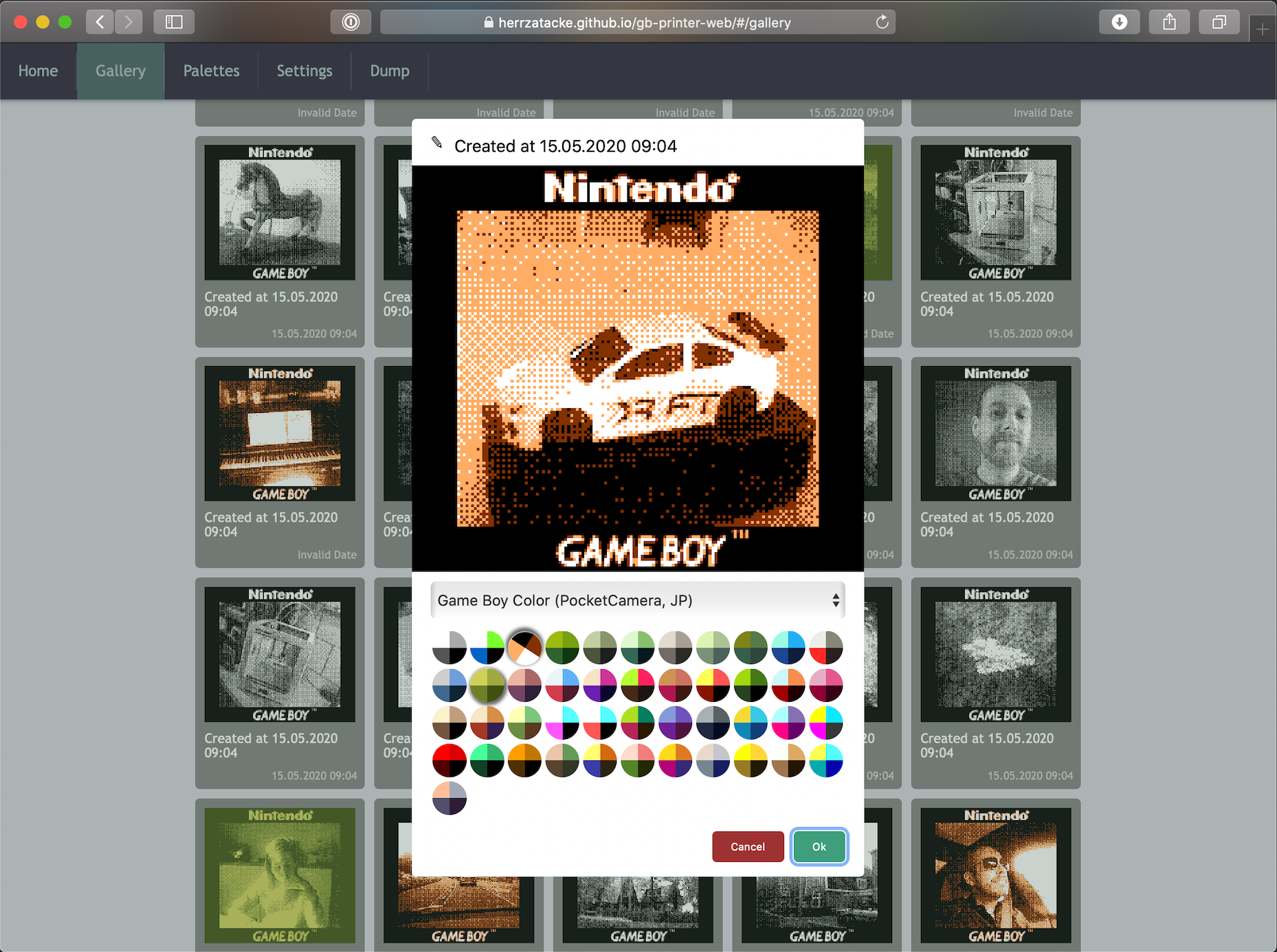 New website for decoding Game Boy Photos